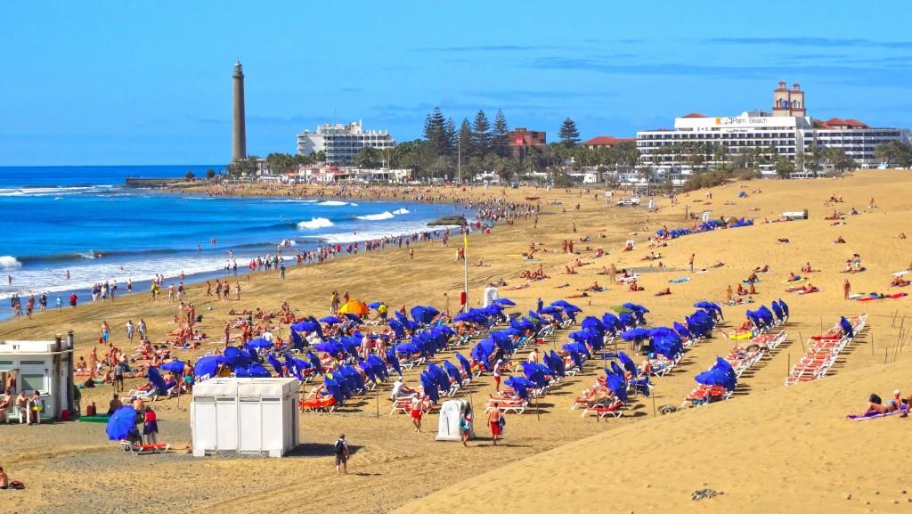 Spiaggia di Maspalomas, la zona turistica principale di Gran Canaria